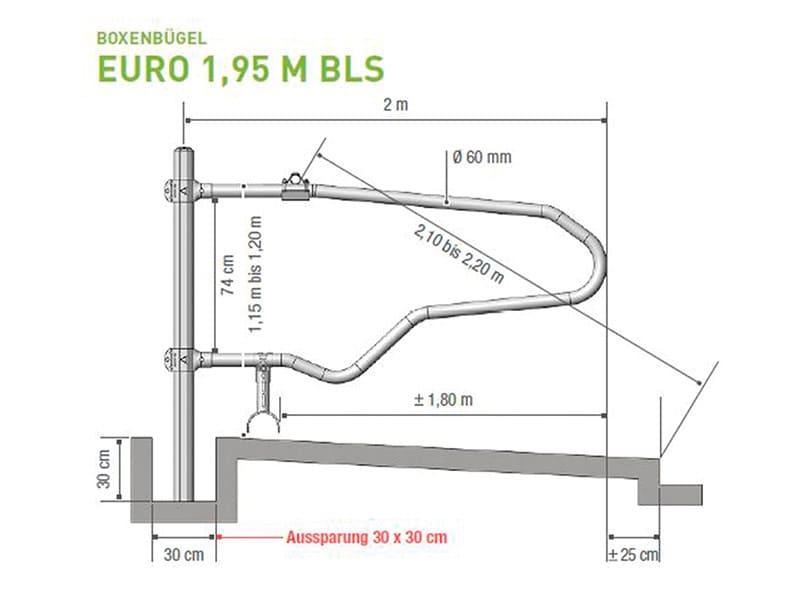 Boxenbügel für Liegeboxen Euro 1,95 M BLS