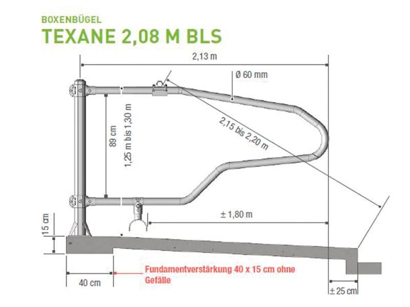 Boxenbügel für Liegeboxen Texane 2,08 M BLS